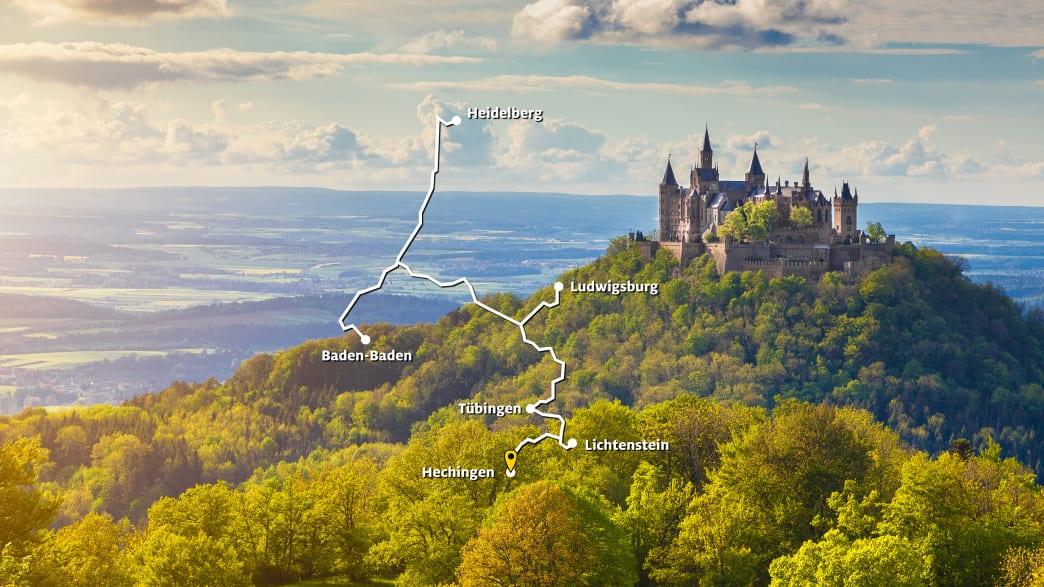 Route 2: Städte, Schlösser und Burgen