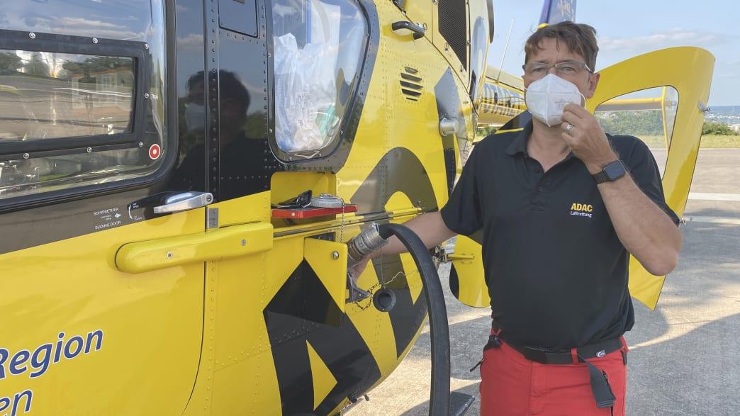 Interview-Situation nur Stefan Goldmann zur Flutkatastrophe