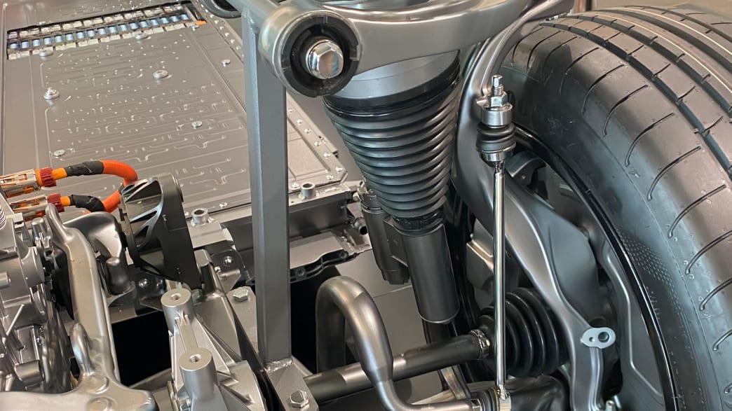 Detail des Mercedes EQS