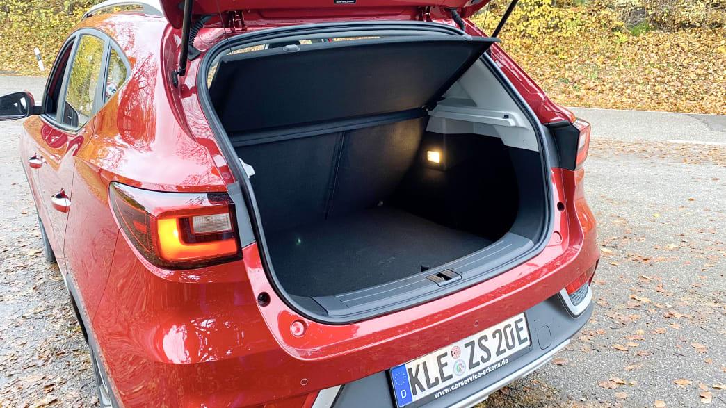 Kofferraum eines MG ZS EV