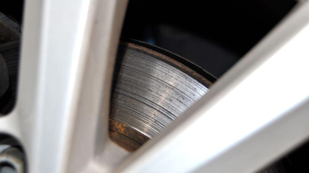 Die Bremsscheibe des Renault Zoe Elektro