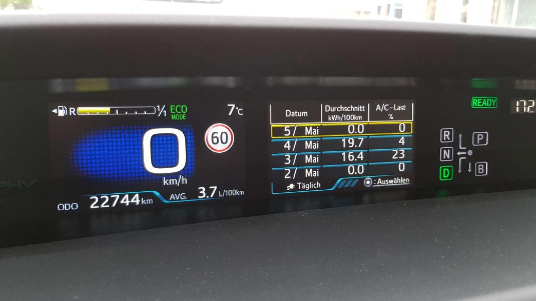 Details Anzeige Toyota Prius Hybrid