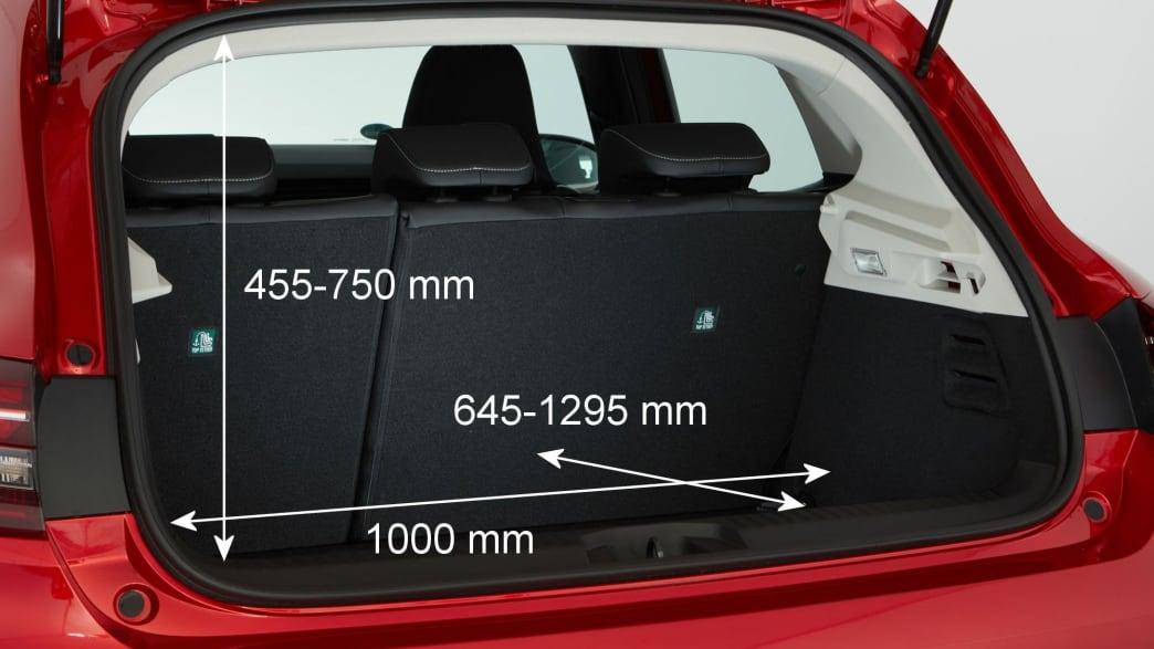 Kofferraum des Renault Clio