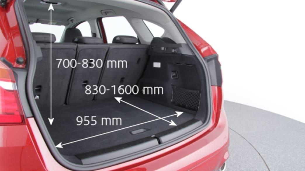 Kofferraum eines BMW 2er 218D Active Tourer