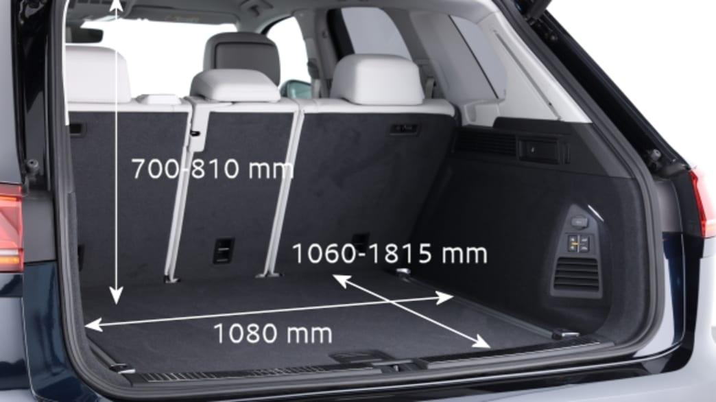 Kofferraum eines VW Touareg