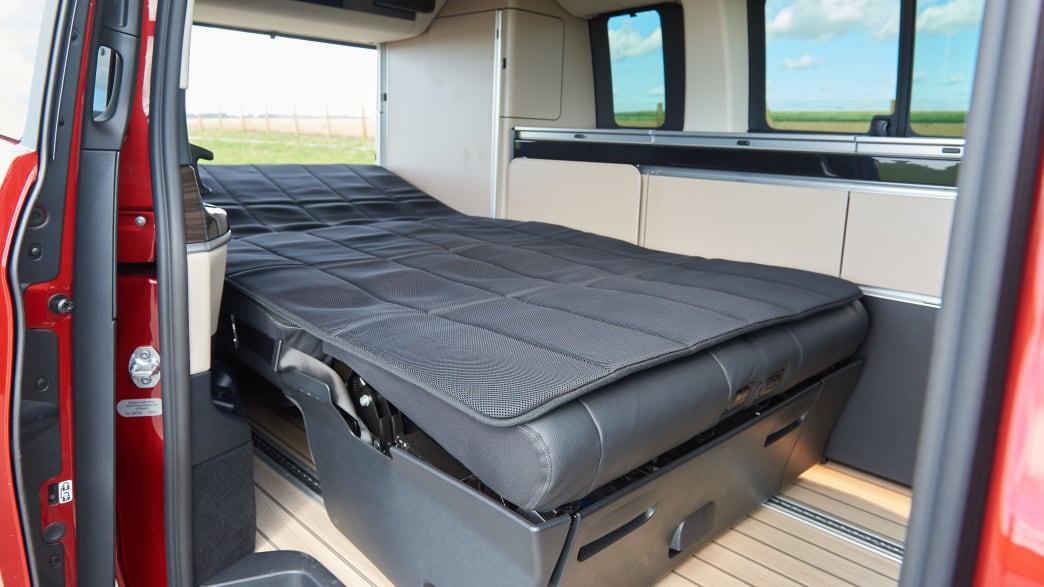 Schlafplatz in einem Mercedes Marco Polo