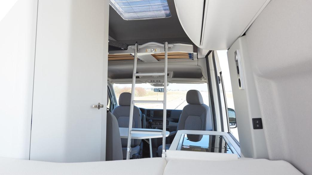 Betten in einem VW Grand California 600
