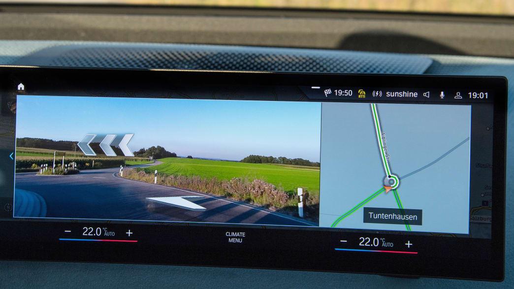 Das Display des ersten BMW iX