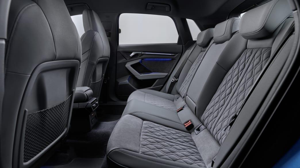 Das Innere des Audi A3 zeigt die Rücksitzbank