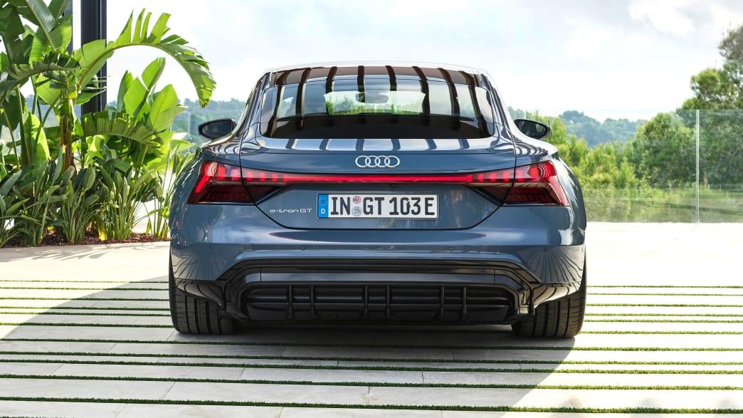 Heckansicht des Audi e-tron GT