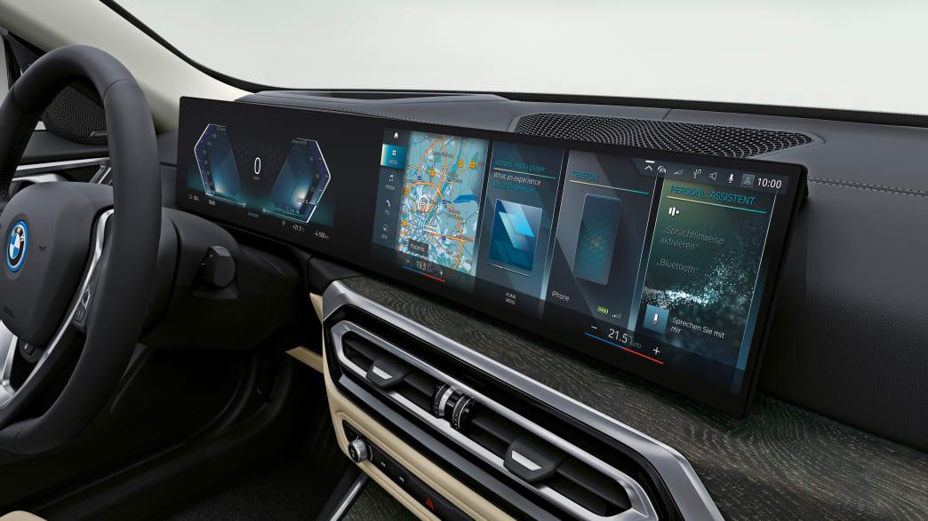 Display Detail des BMW i4