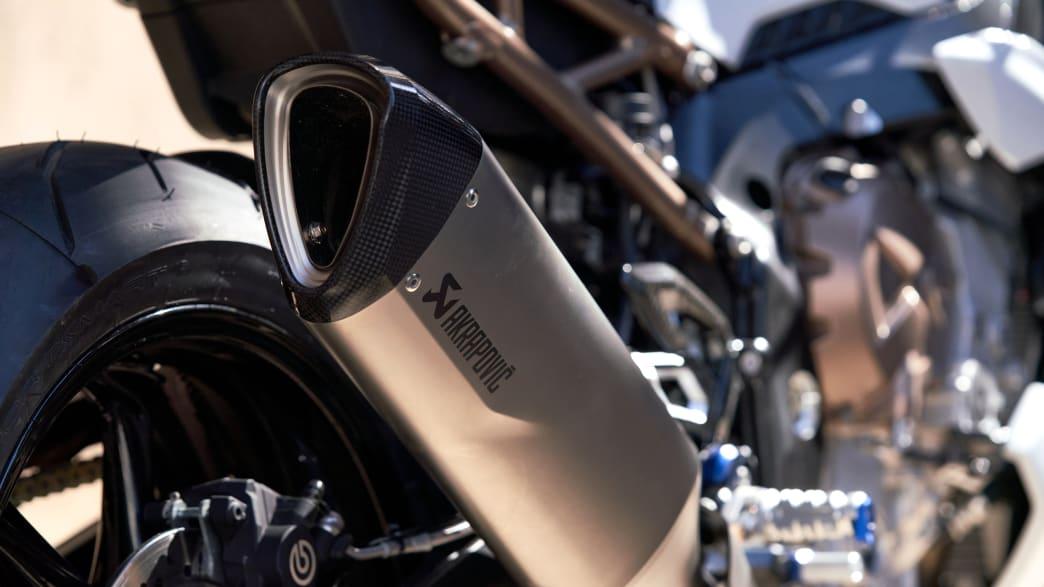 Auspuff der BMW S 1000 R