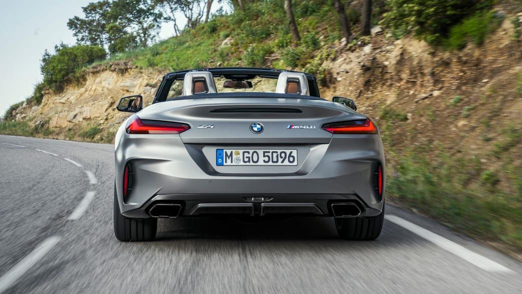 das BMW Z4 Model von 2018 von hinten