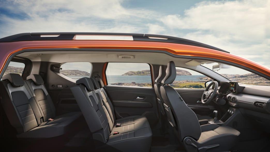 Seitenansicht der Sitze im Dacia Jogger