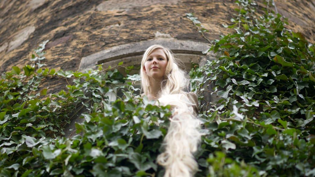Rapunzel am Turmfenster