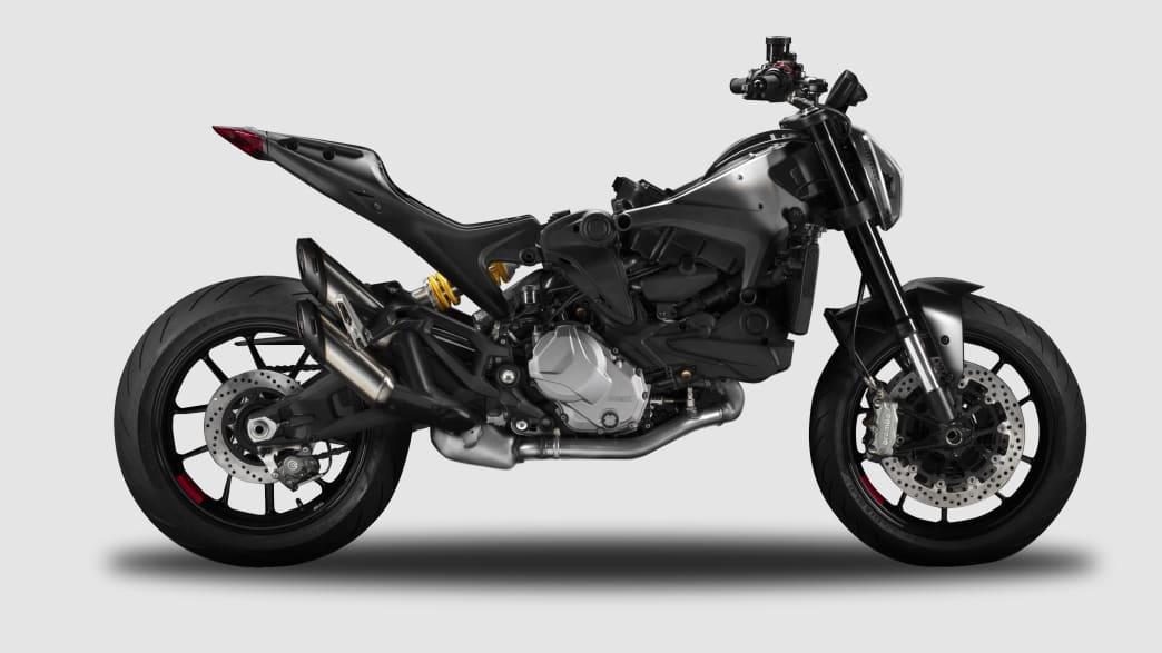 Seitenansicht der Ducati Monster