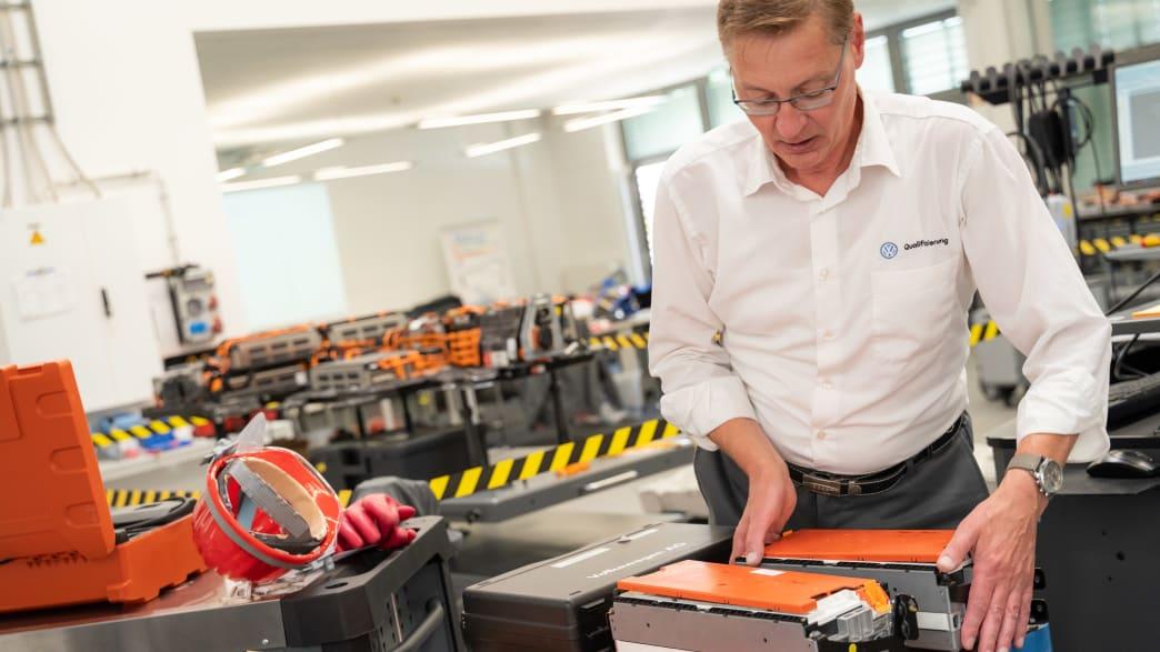 Zu Besuch in Erfurt bei Volkswagen im Qualifizierungszentrum