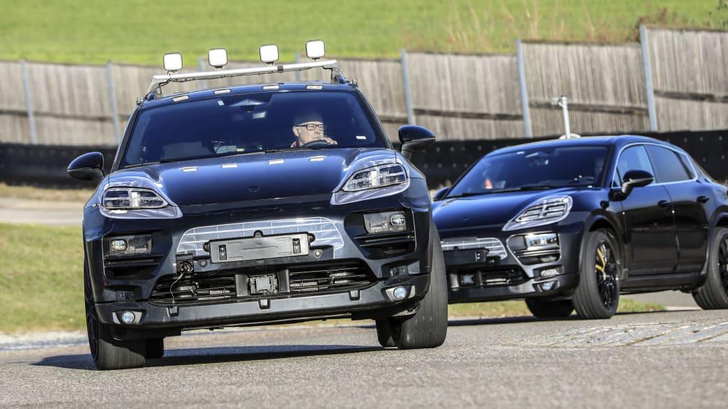 getarnte Prototypen des Porsche Macan EV