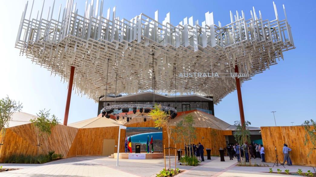 Der Eingangsbereich des australischen Pavillions auf der Expo Dubai