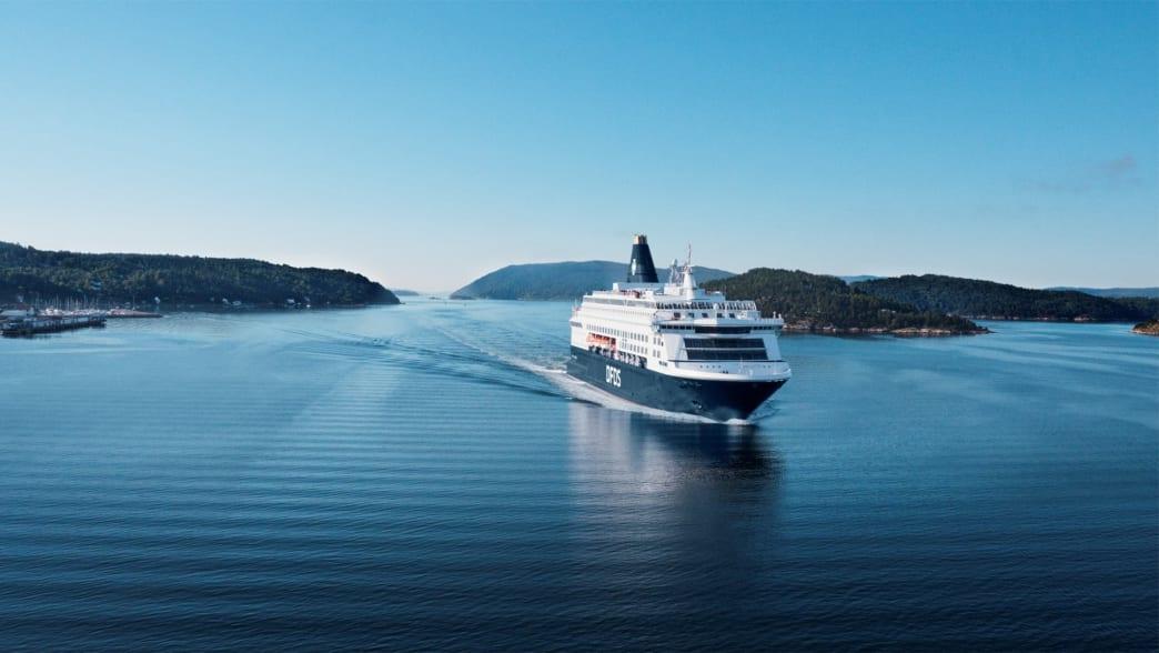 """eine Fähre der """"DFDS""""-Reederei"""