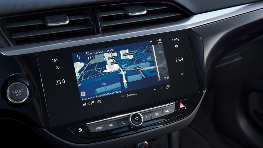Display eines Opel Corsa