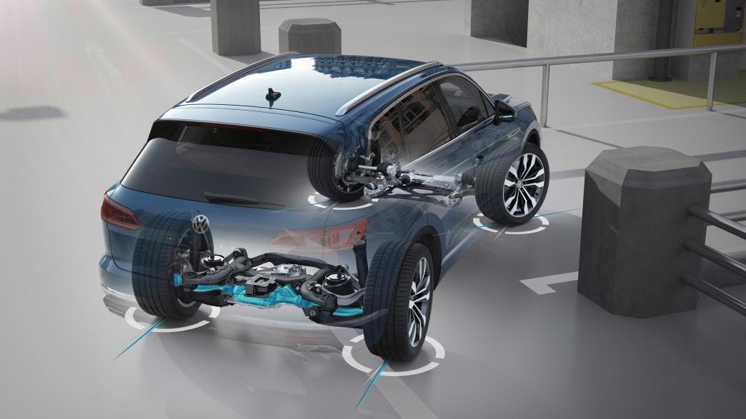 Rendering eines VW Touareg