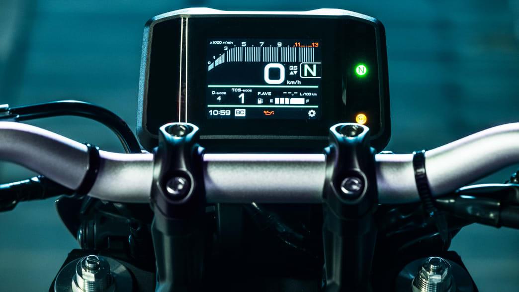 das Display der Yamaha MT-09