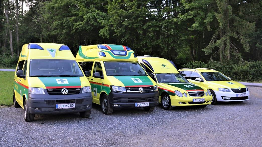 Rettunswagen des grünen Kreuz Steiermark