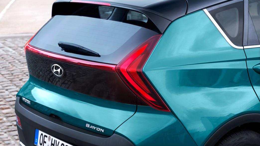 Die Kofferraumklappe des neuen Hyundai Bayon