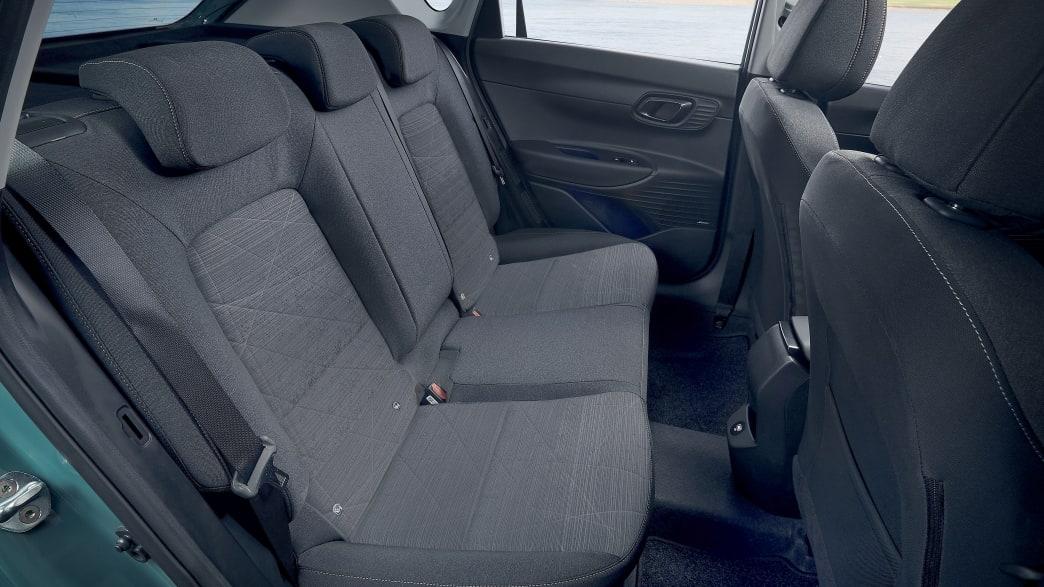 Die Rücksitzbank des neuen Hyundai Bayon