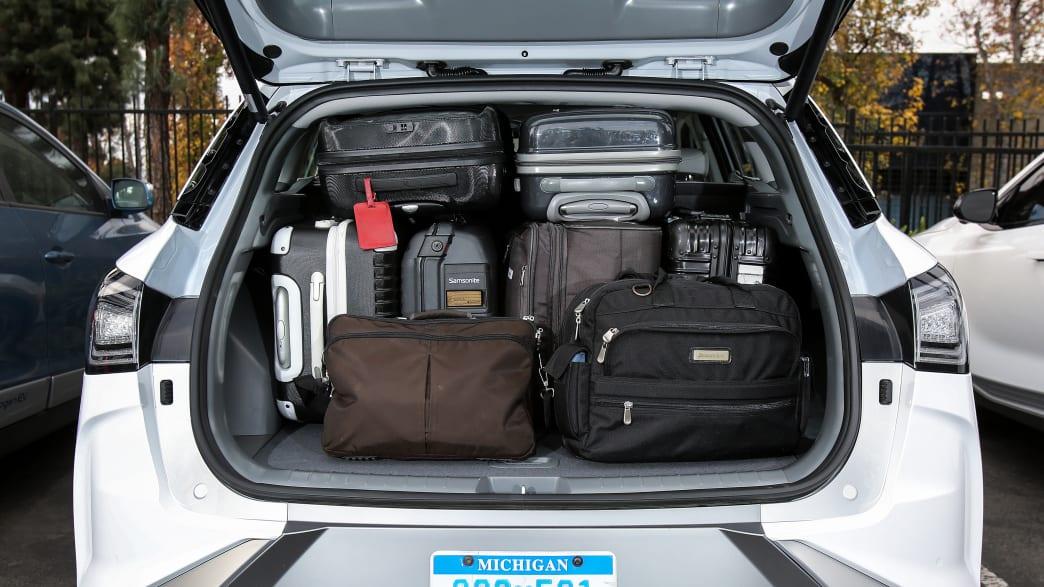 Kofferraum eines weissen Hyundai Nexo