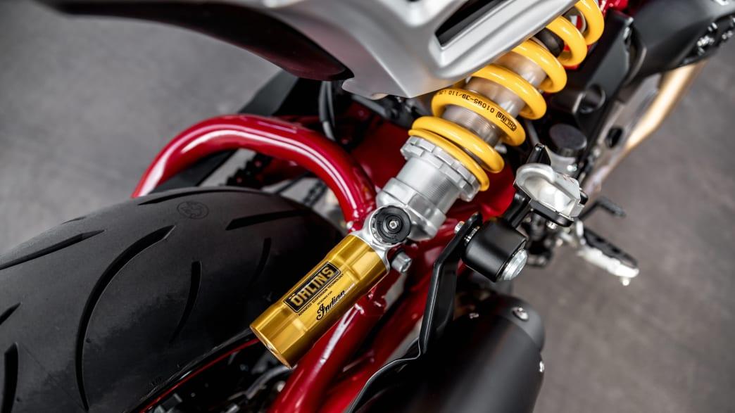 Die Federum vom Motorrad Indian FTR R Carbon