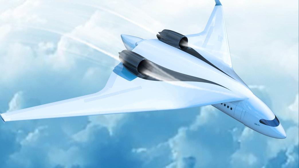 Zeichnung des multimodalen Flugzeug von AKKA