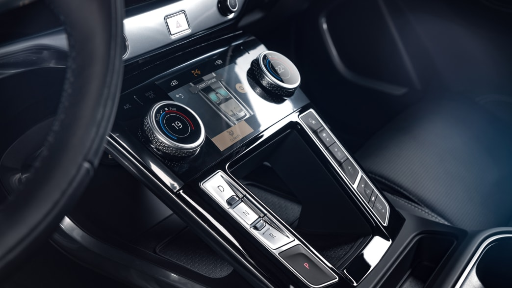 Bedienelemente eines Jaguar I-Pace