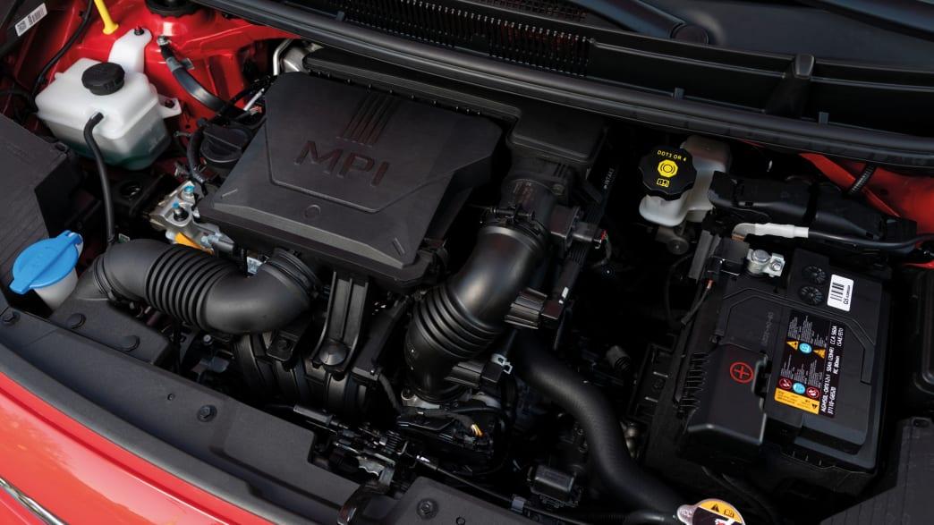 der Motor des Kia Picanto
