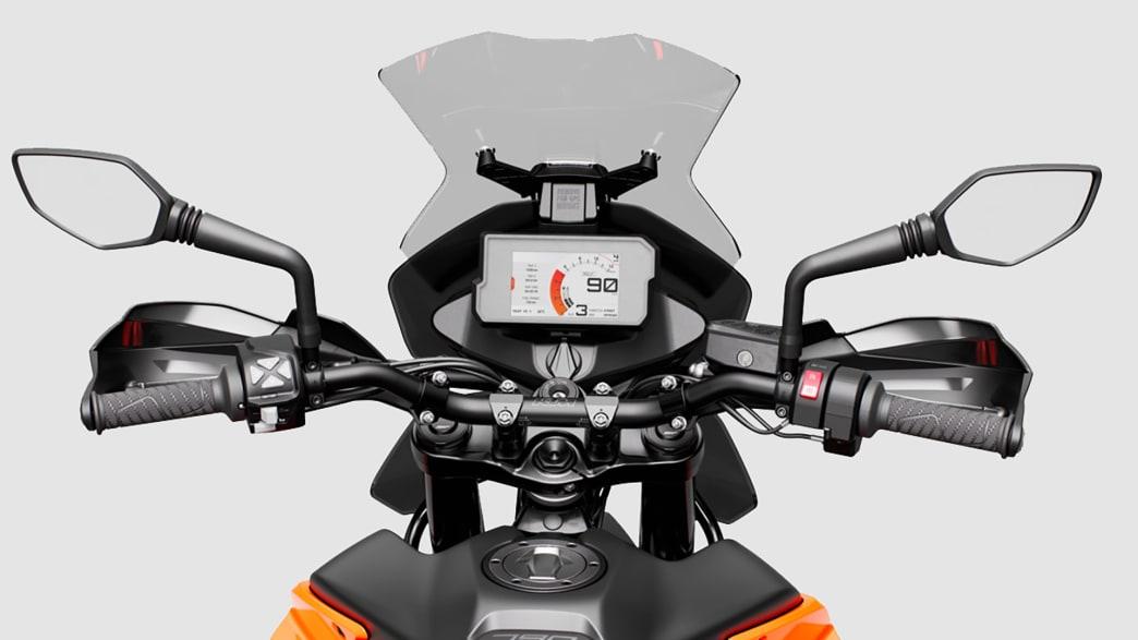 Display einer KTM 790 Adventure