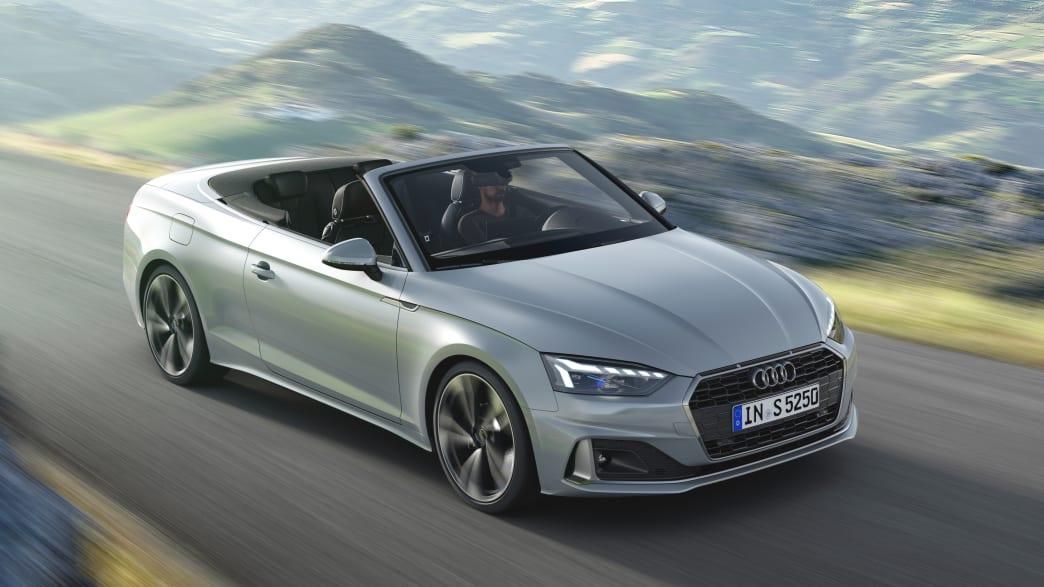 Front- und Seitenansicht des Audi A5 Cabrio