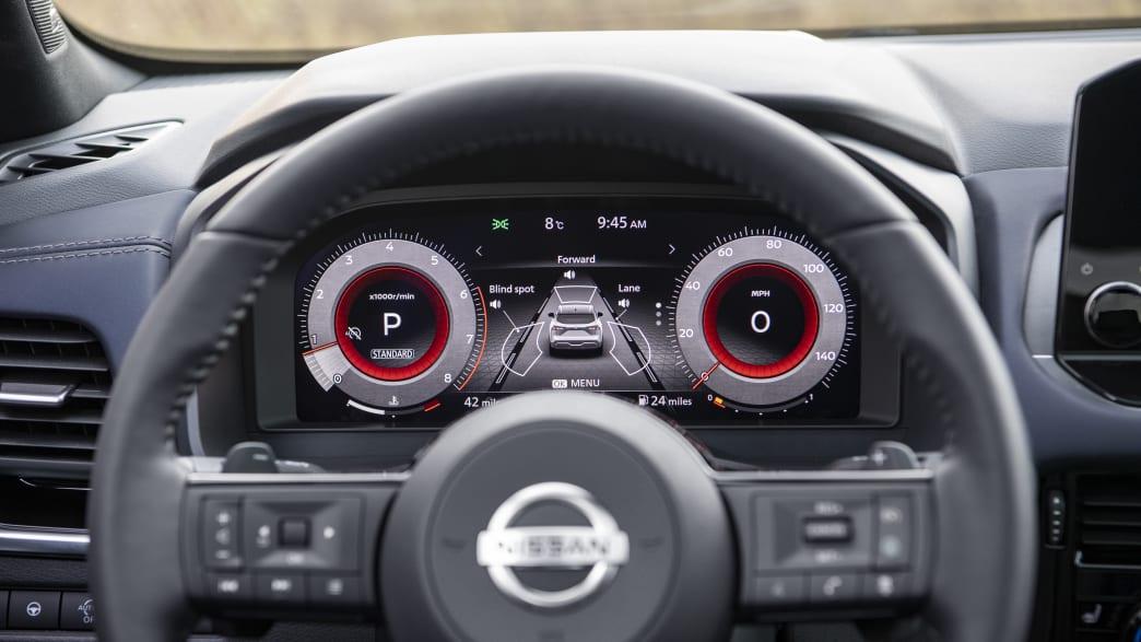 das Lenkrad des Nissan Qashqai