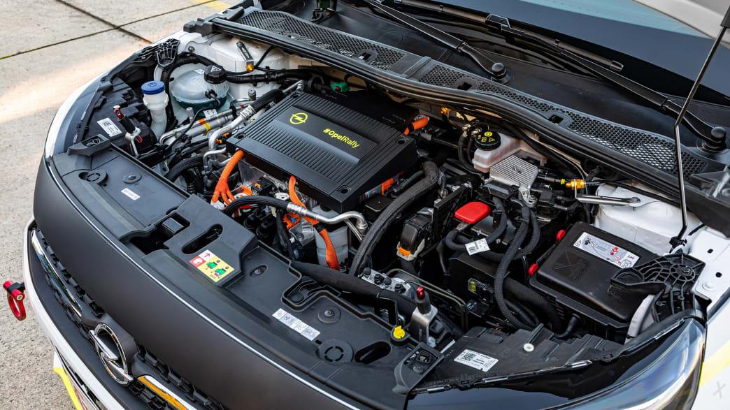 der Motor des Rallye Opel Corsa-e