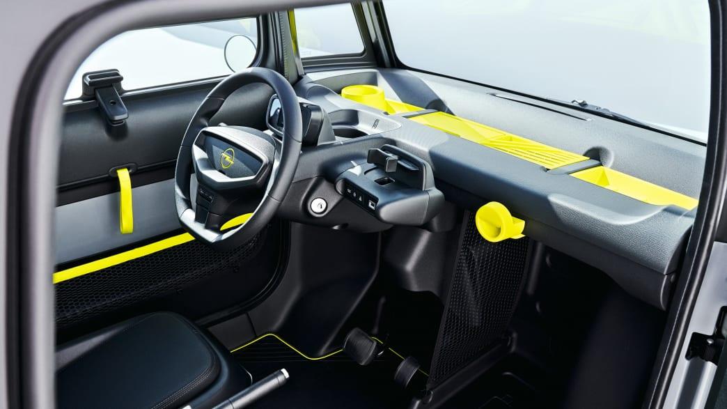 Cockpit und Innenraum des Opel Rocks-e