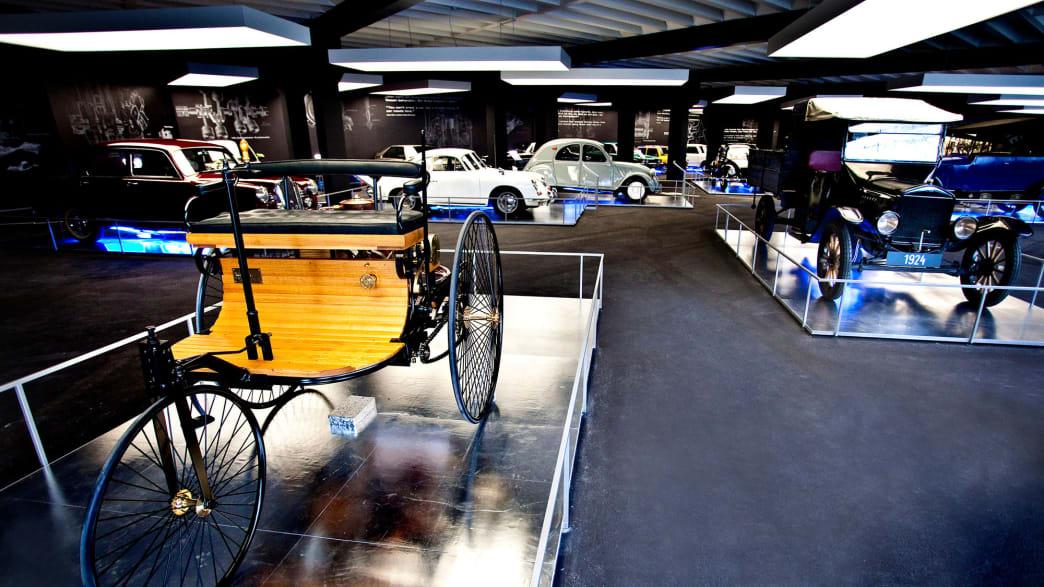 Ein altes Dreirad zu sehen im Besucherzentrum Kaiser Franz Josefs Hoehe