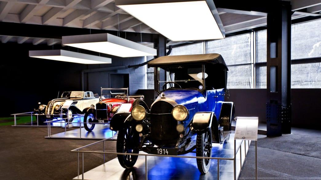 Ein Oldtimer zu sehen im Besucherzentrum Kaiser Franz Josefs Hoehe
