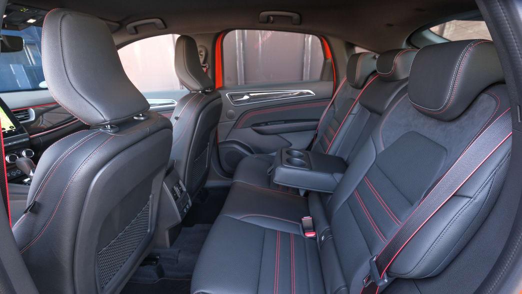 Die Rücksitzbank eines Renault Arkana