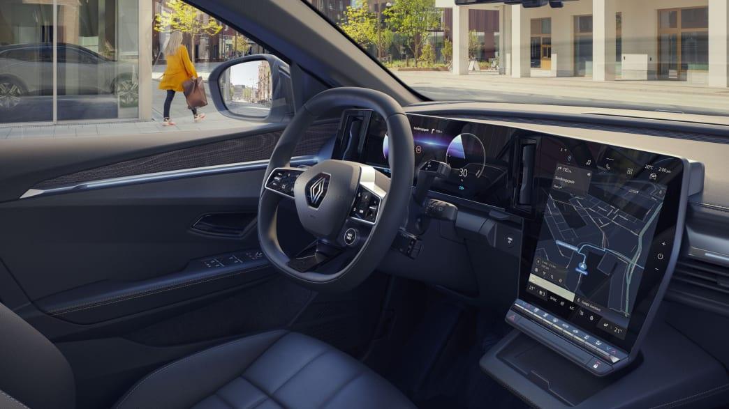 Die Armatur eines Renault Megane E-Tech