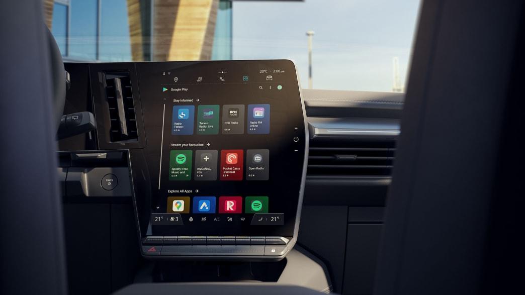 Der Bordcomputer eines Renault Megane E-Tech