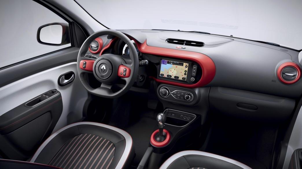 das Dashboard des Renault Twingo Electric
