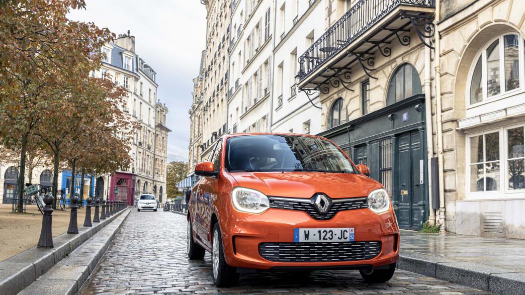 der Renault Twingo Electric von vorne