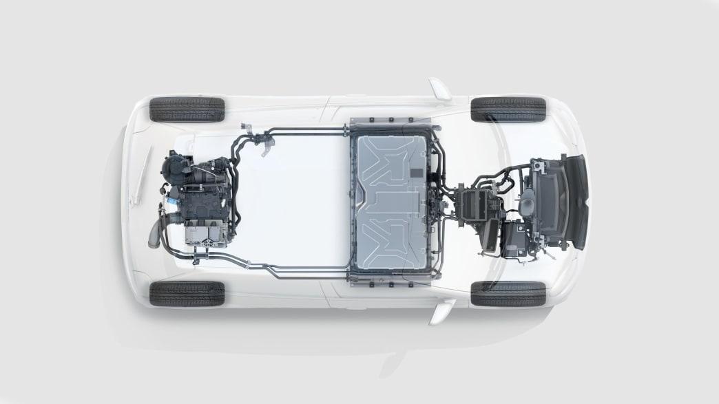 die Motorlage des Renault Twingo Electric