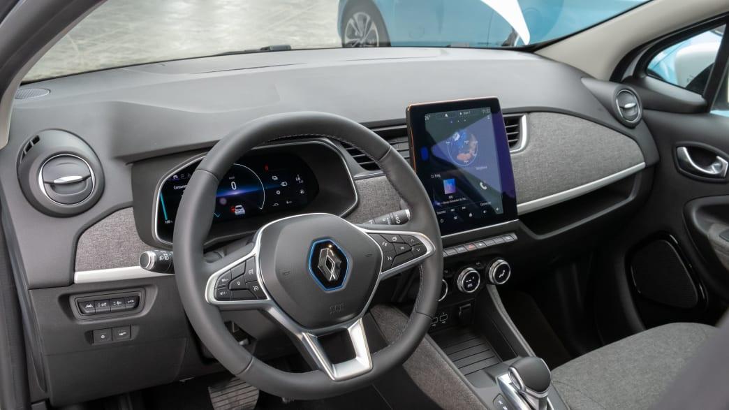 Das Cockpit des Elektroautos Renault Zoe