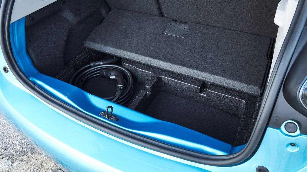 Der Kofferraum des Renault Zoe Elektro